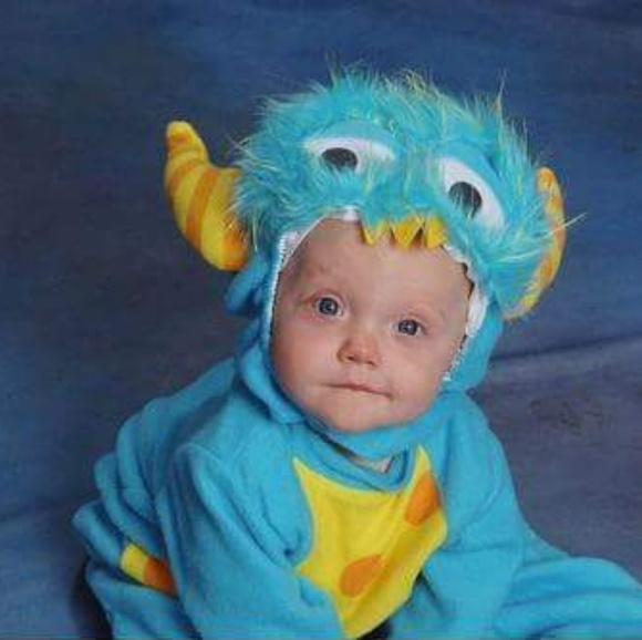 baby monster halloween costume blue boys girls